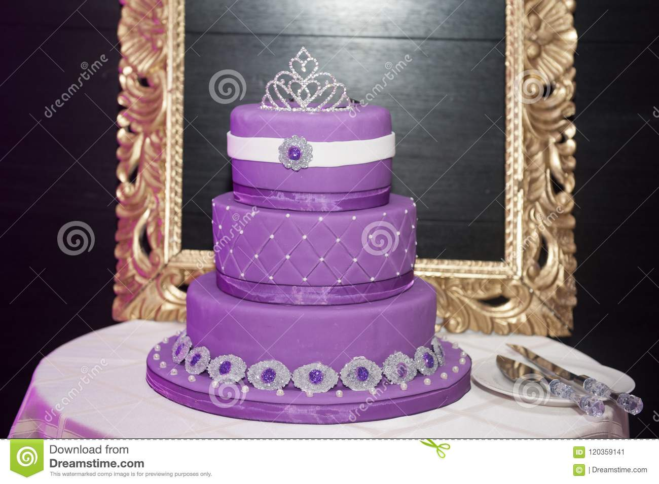 Sweet Sixteen Birthday Cake On A Stand For Young Girls Coming Of Age Celebration