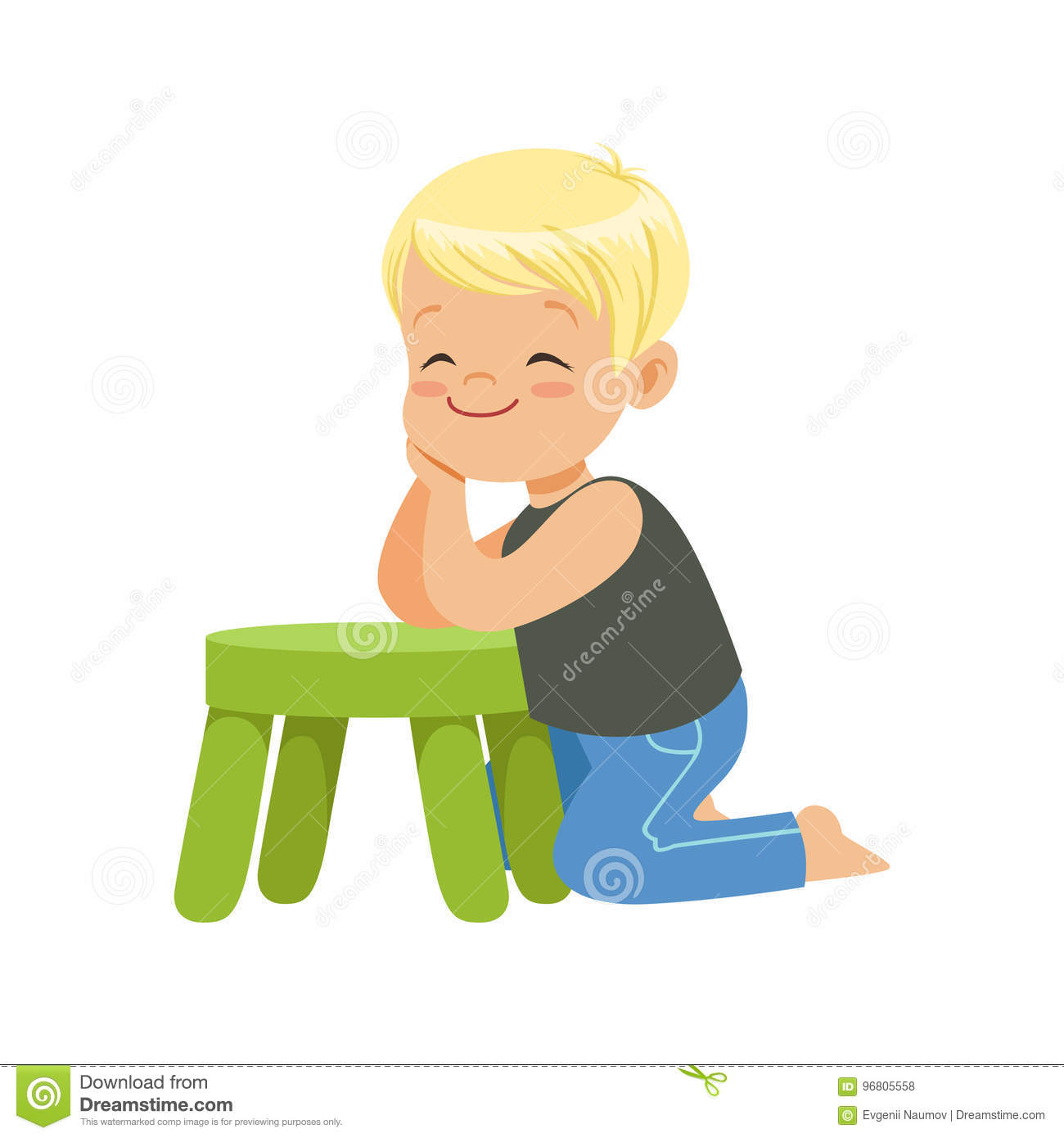 Incredible Sweet Smiling Little Boy Sitting On The Floor Leaning On A Gmtry Best Dining Table And Chair Ideas Images Gmtryco