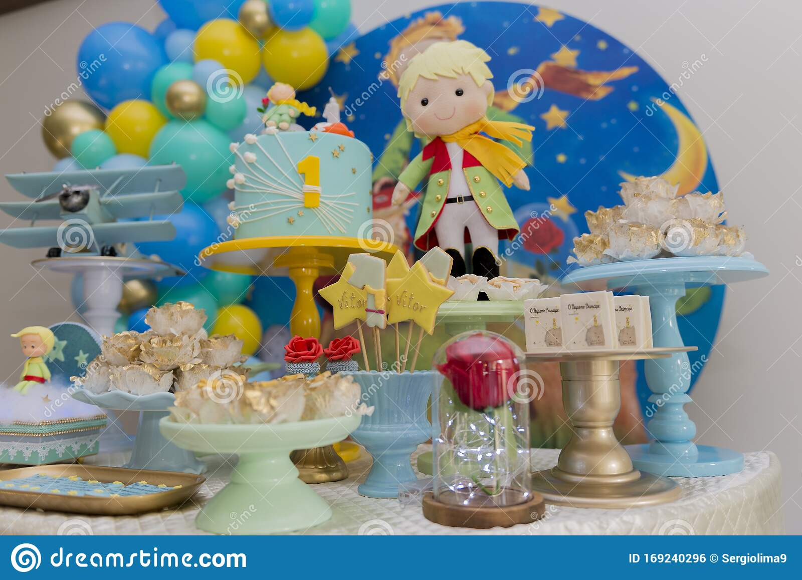 Remarkable Sweet Table And Big Cake For First Birthday Stock Photo Image Of Funny Birthday Cards Online Elaedamsfinfo
