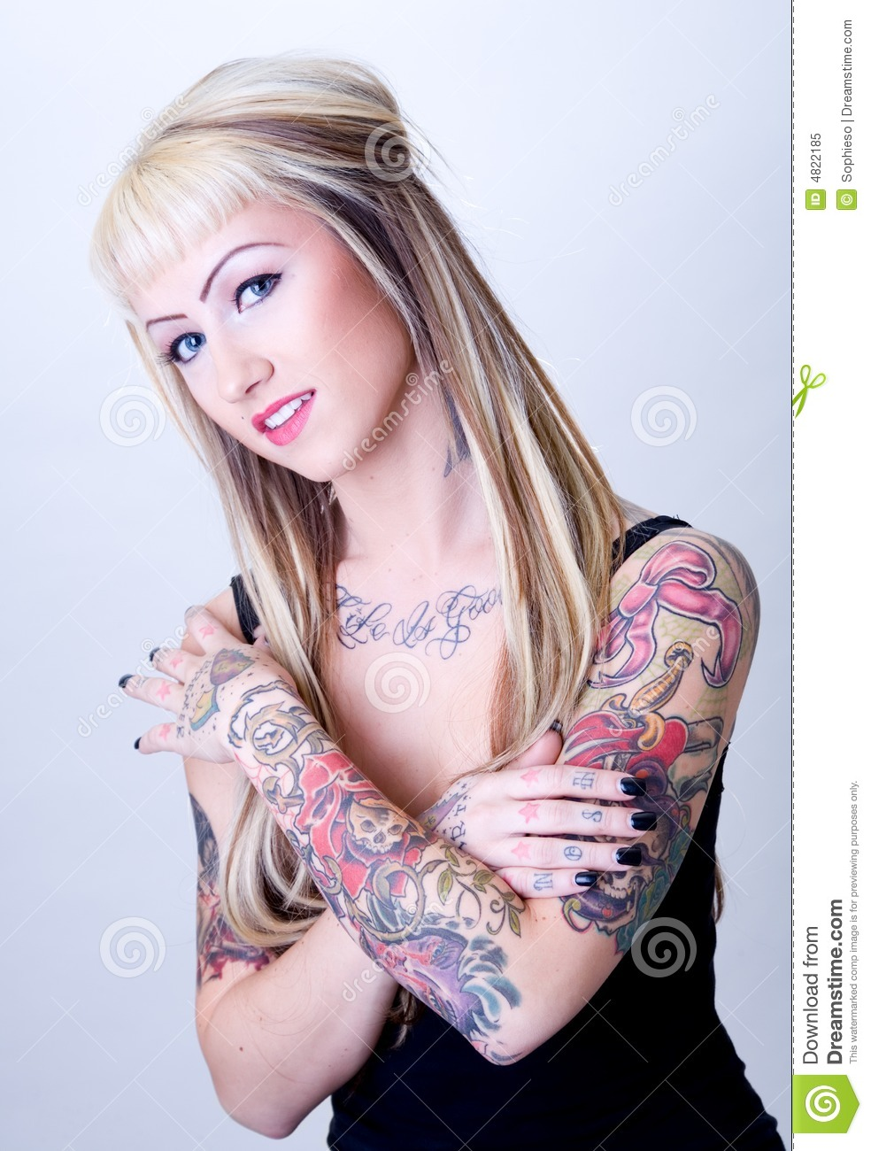 Sweet Tattoo Girl