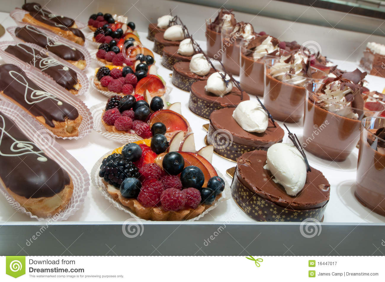 Sweet Treats At A Bakery Stock Image Image Of Chocolate