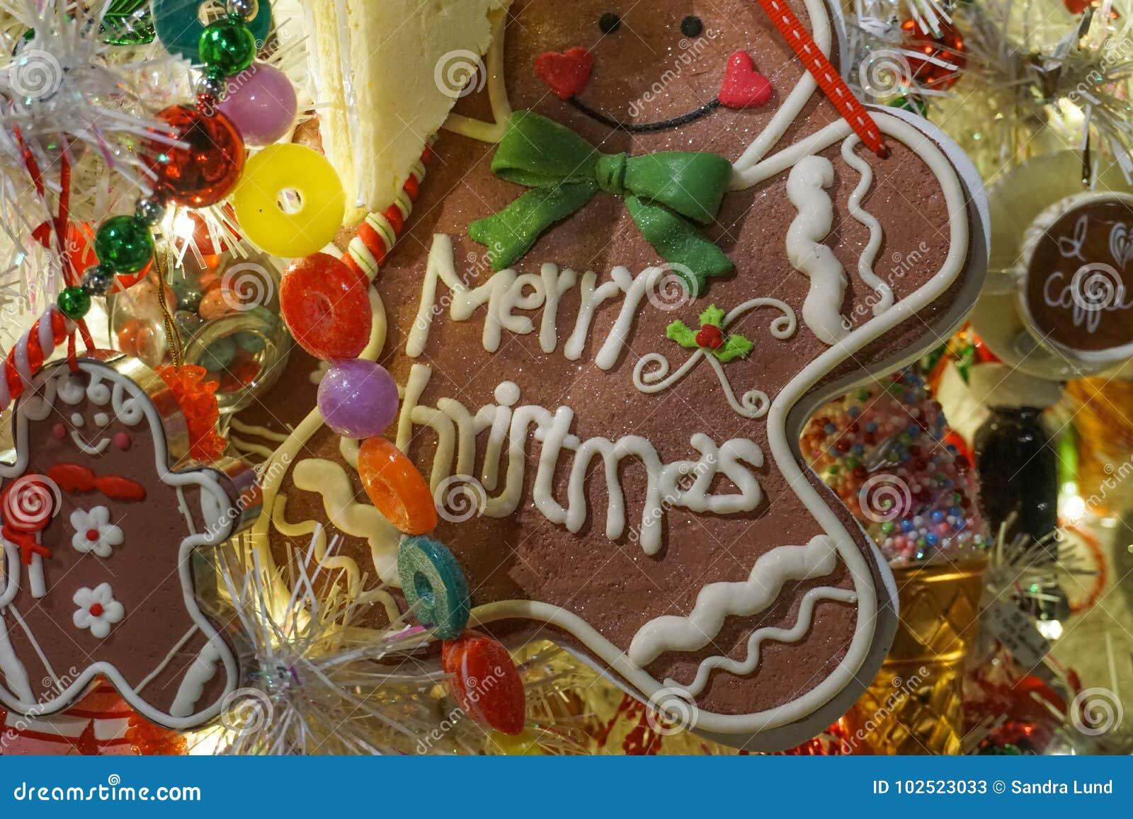 Sweet Treats Christmas Tree Decorations Stock Image