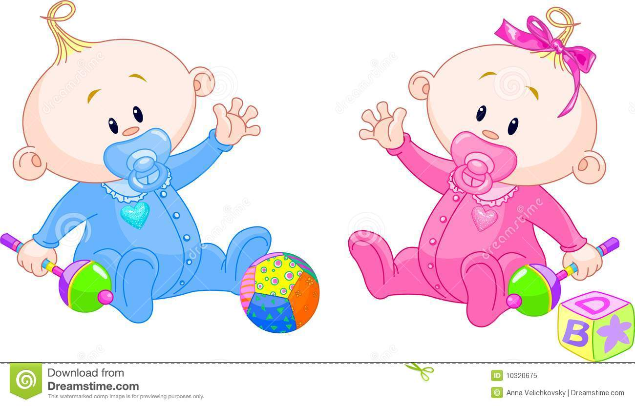 Sweet Twins Royalty Free Stock Photo
