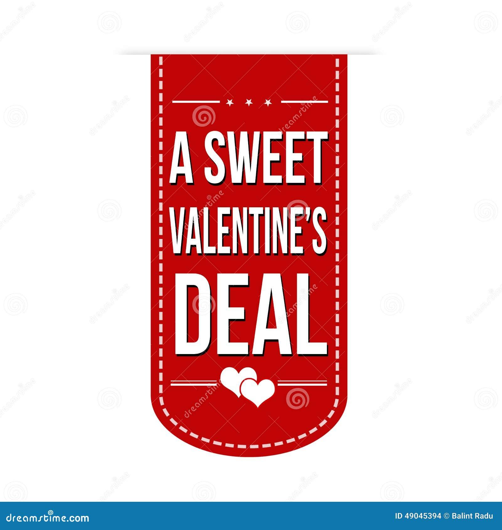 a sweet valentines deal banner - Valentine Deals