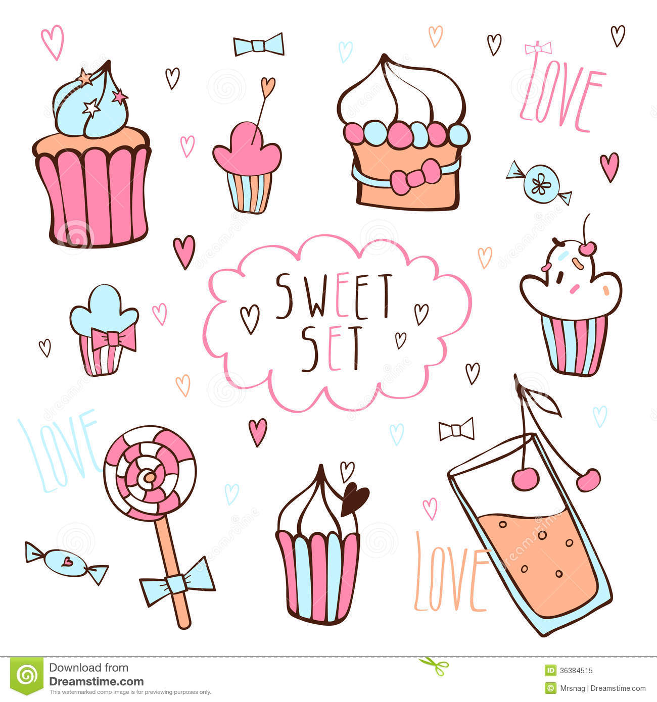 Sweet Vector Set Royalty Free Stock Photo Image 36384515