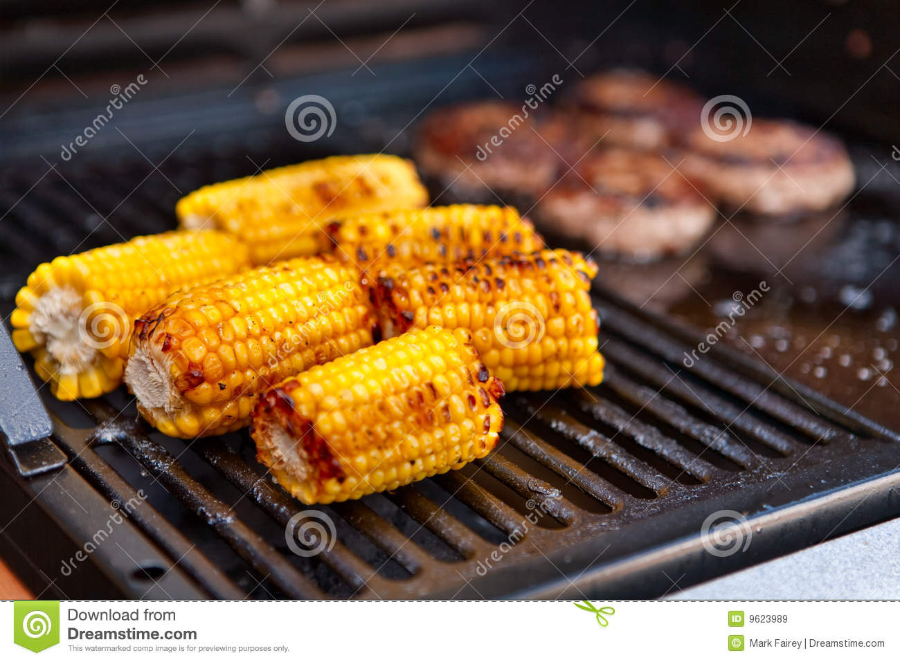 sweetcorn cooking on a barbecue royalty free stock images. Black Bedroom Furniture Sets. Home Design Ideas