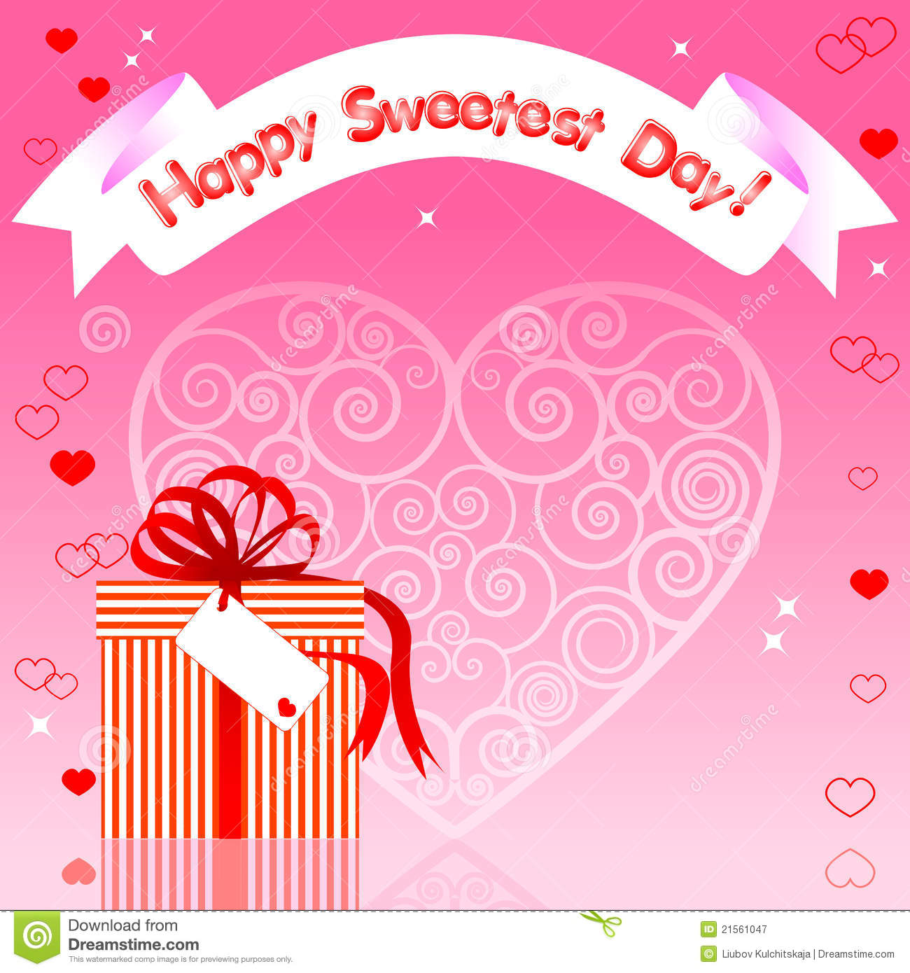 Sweetest Day Card Stock Vector Illustration Of Pattern 21561047