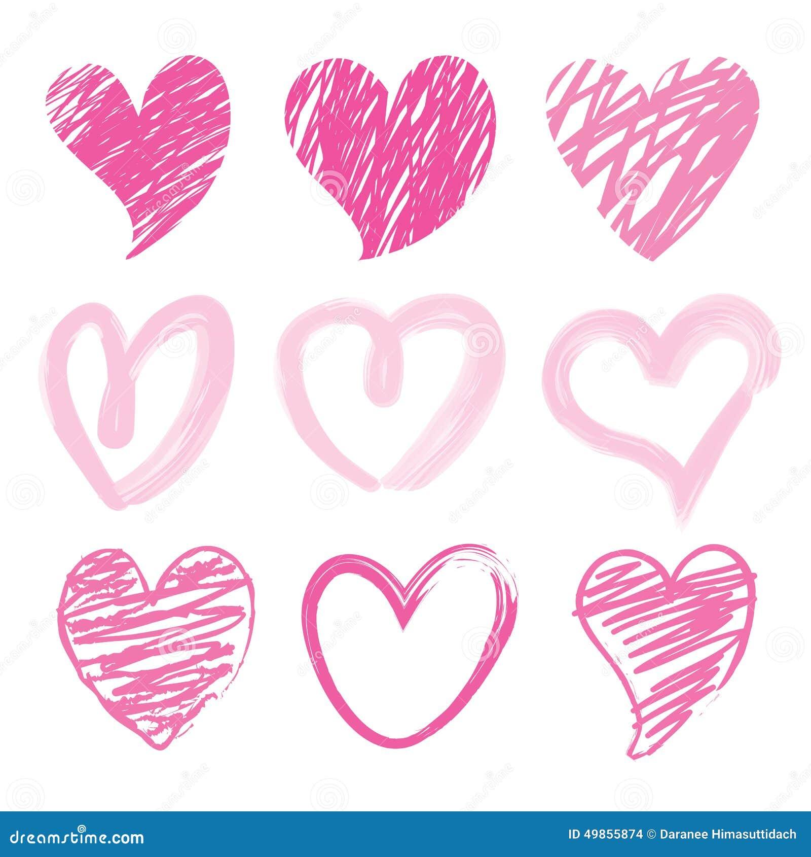 Sweetheart I Love You Valentine Heart Brush Cute Cartoon Design Vector