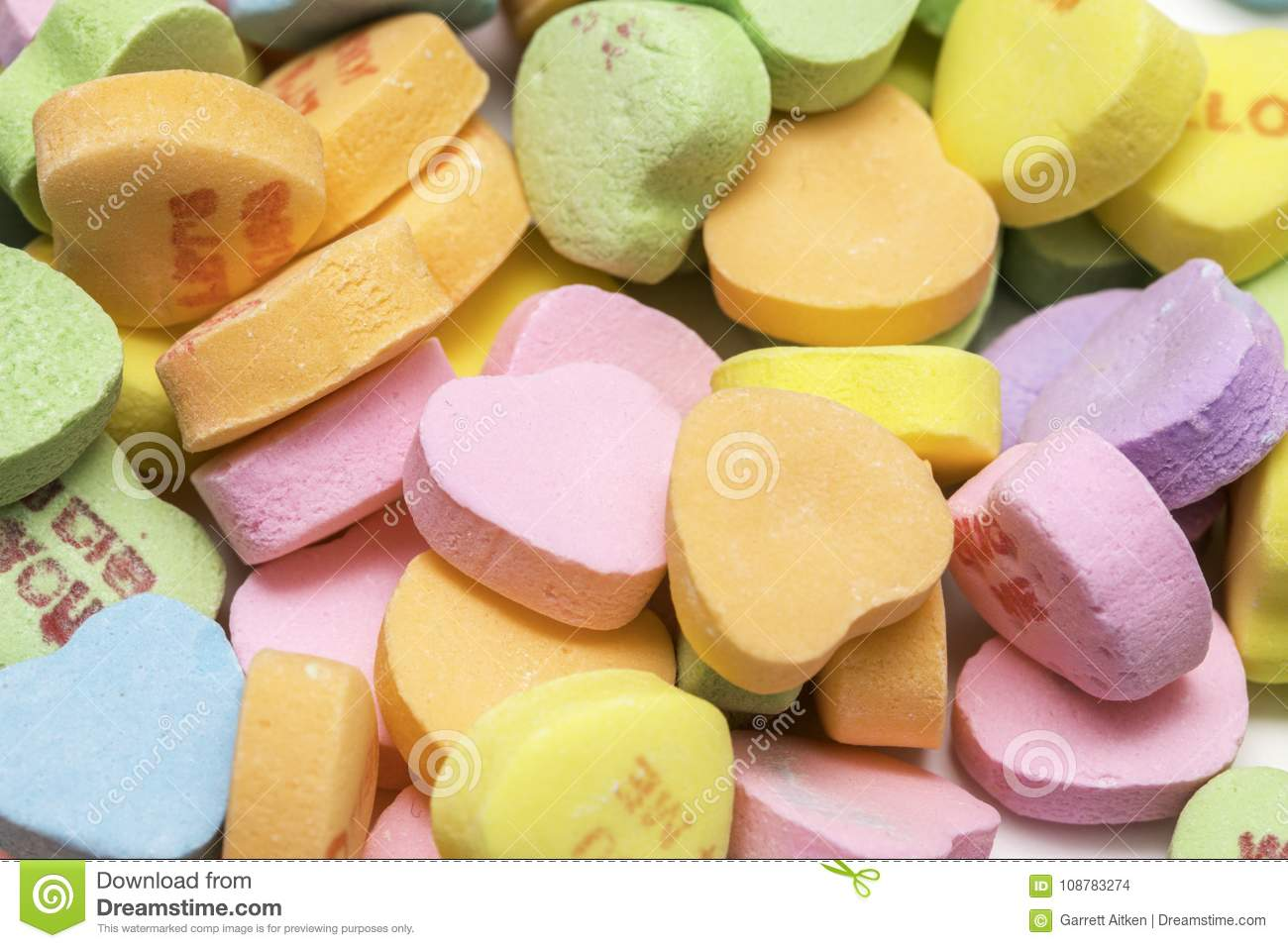 Sweethearts Candy Pile
