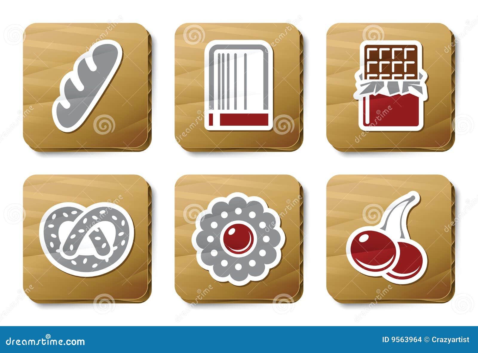 Sweeties and Bakery icons | Cardboard series
