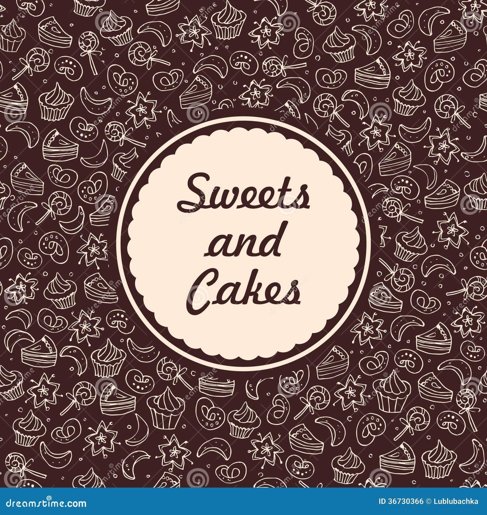 Sweets And Bakery Background Stock Illustration Image