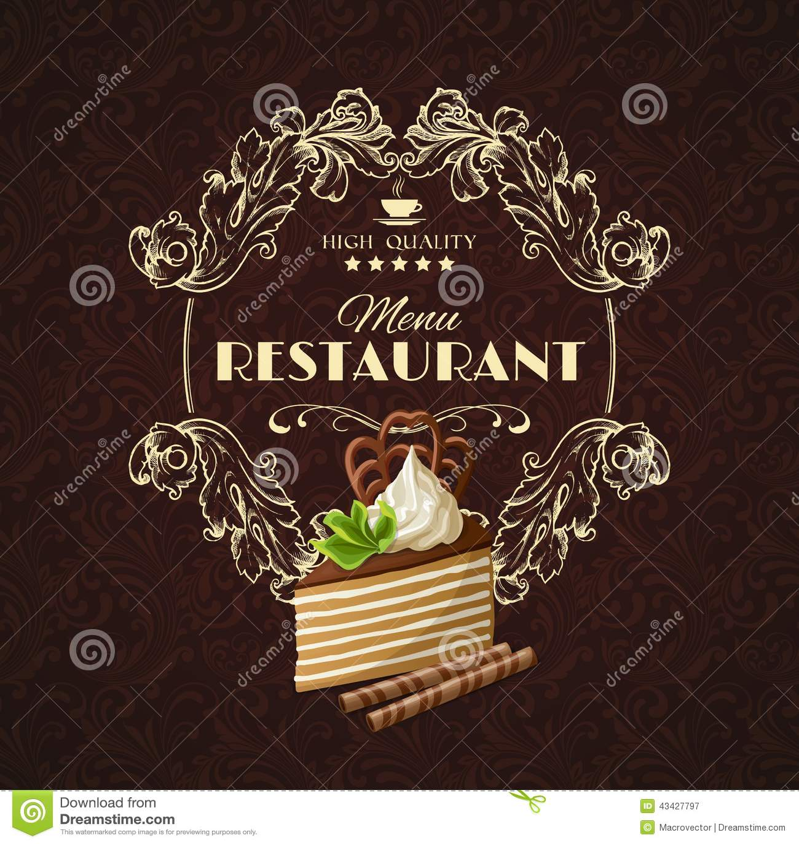 The Chocolate Dessert Cafe Menu