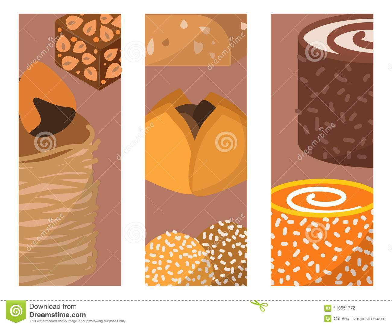 Sweets east delicious dessert food vector cards confectionery homemade assortment chocolate cake tasty bakery sweetness