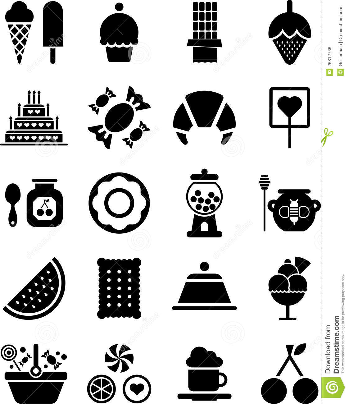 Sweets Icons Stock Vector Illustration Of Lollipop