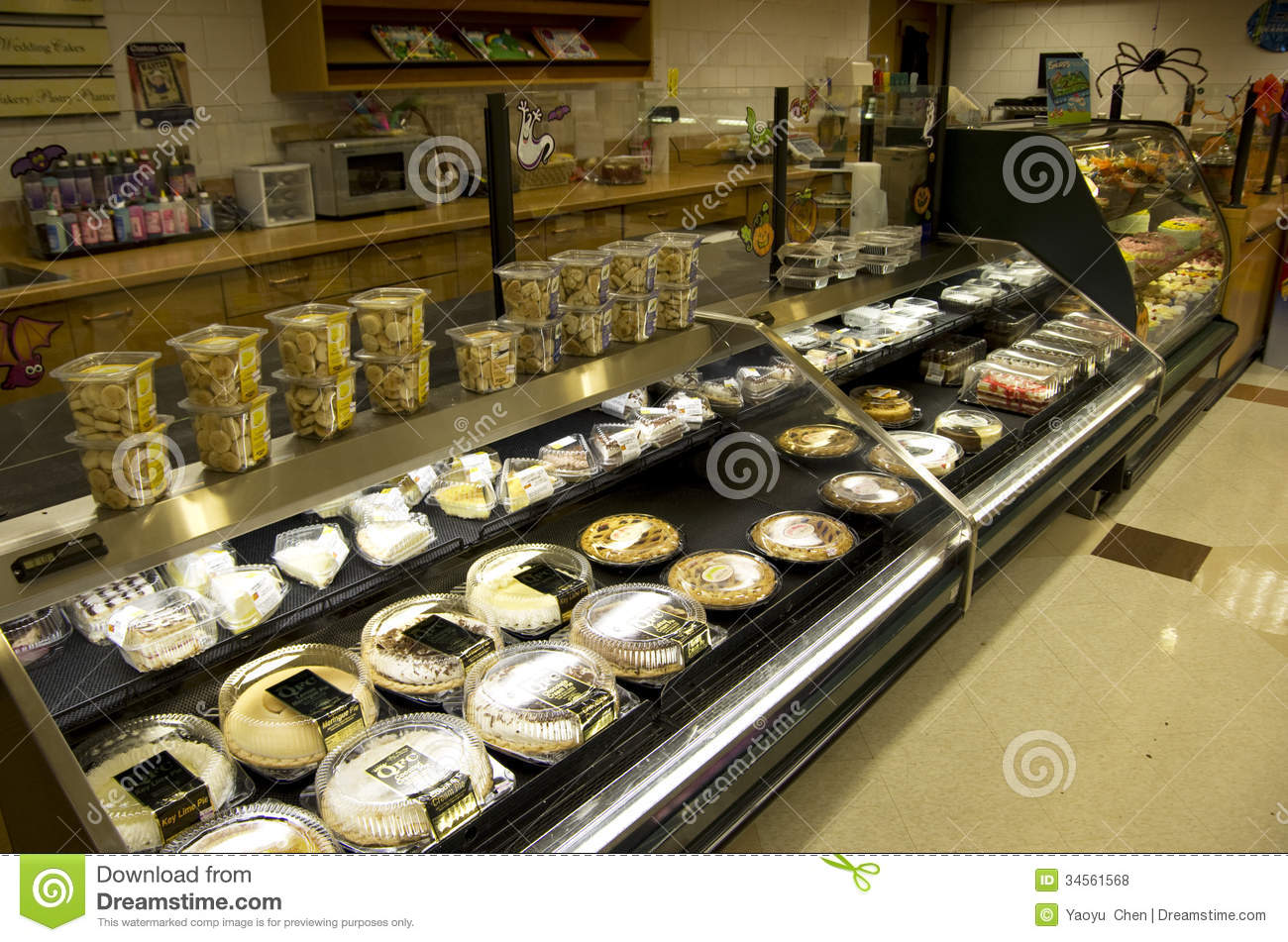 Sweets Sugar Cakes Dessert Bakery Grocery Store Editorial