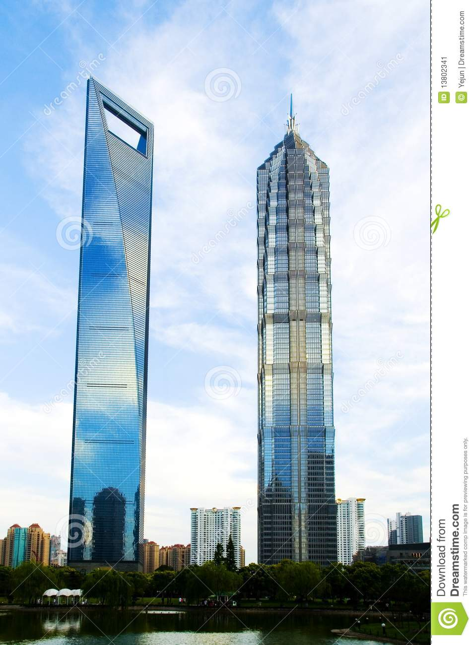 SWFC And Jin Mao Tower Stock Image - Image: 13802341