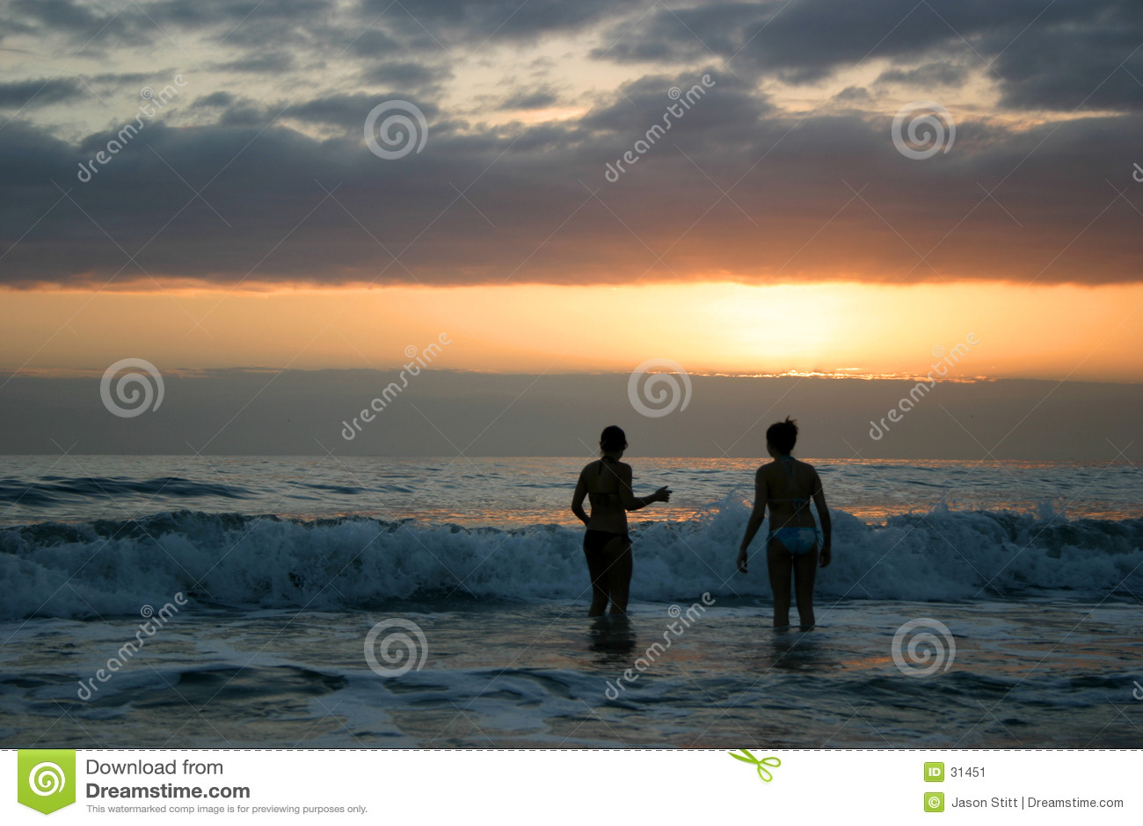 Swim захода солнца