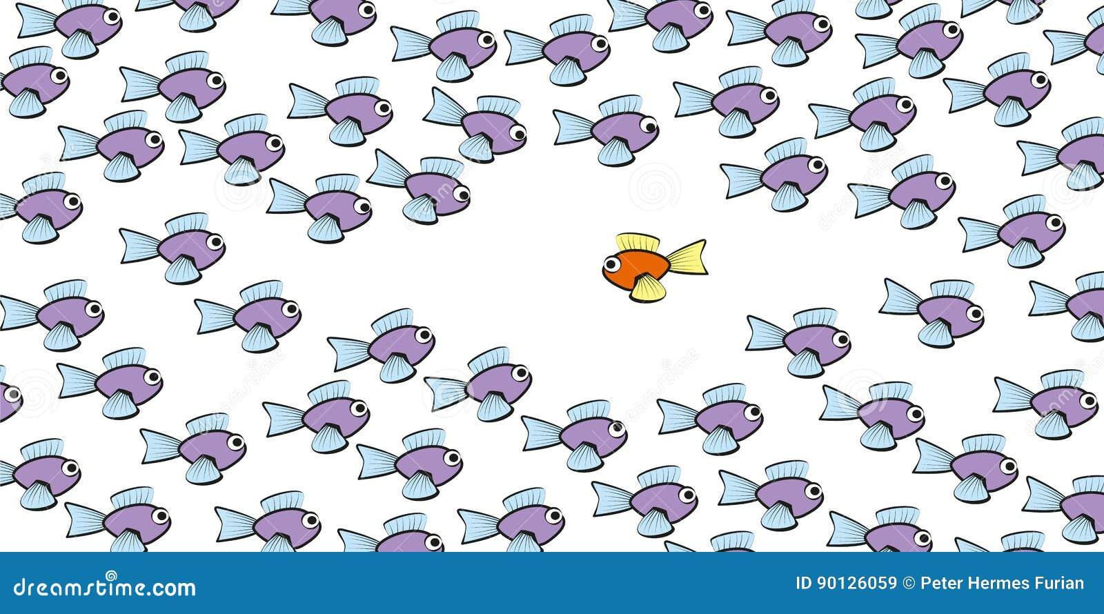 Swim against the tide fish comic stock vector illustration of swim against the tide fish comic biocorpaavc
