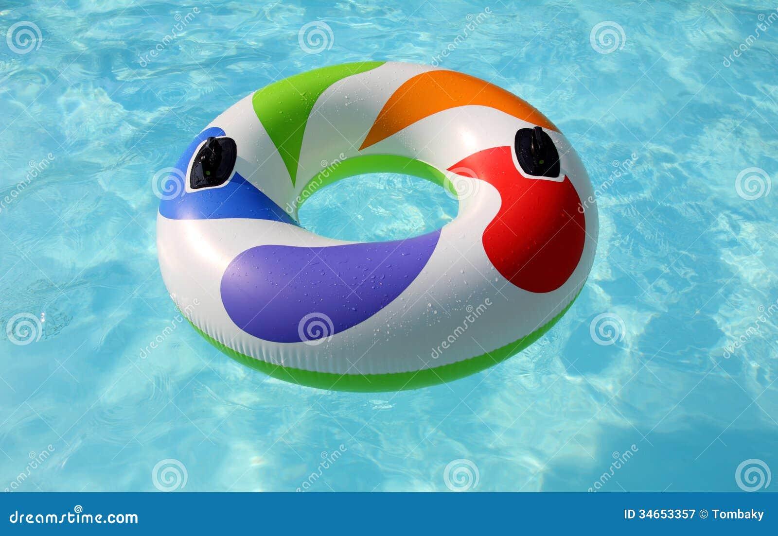 Pool Float Clip Art Swim Ring In Swimming Pool