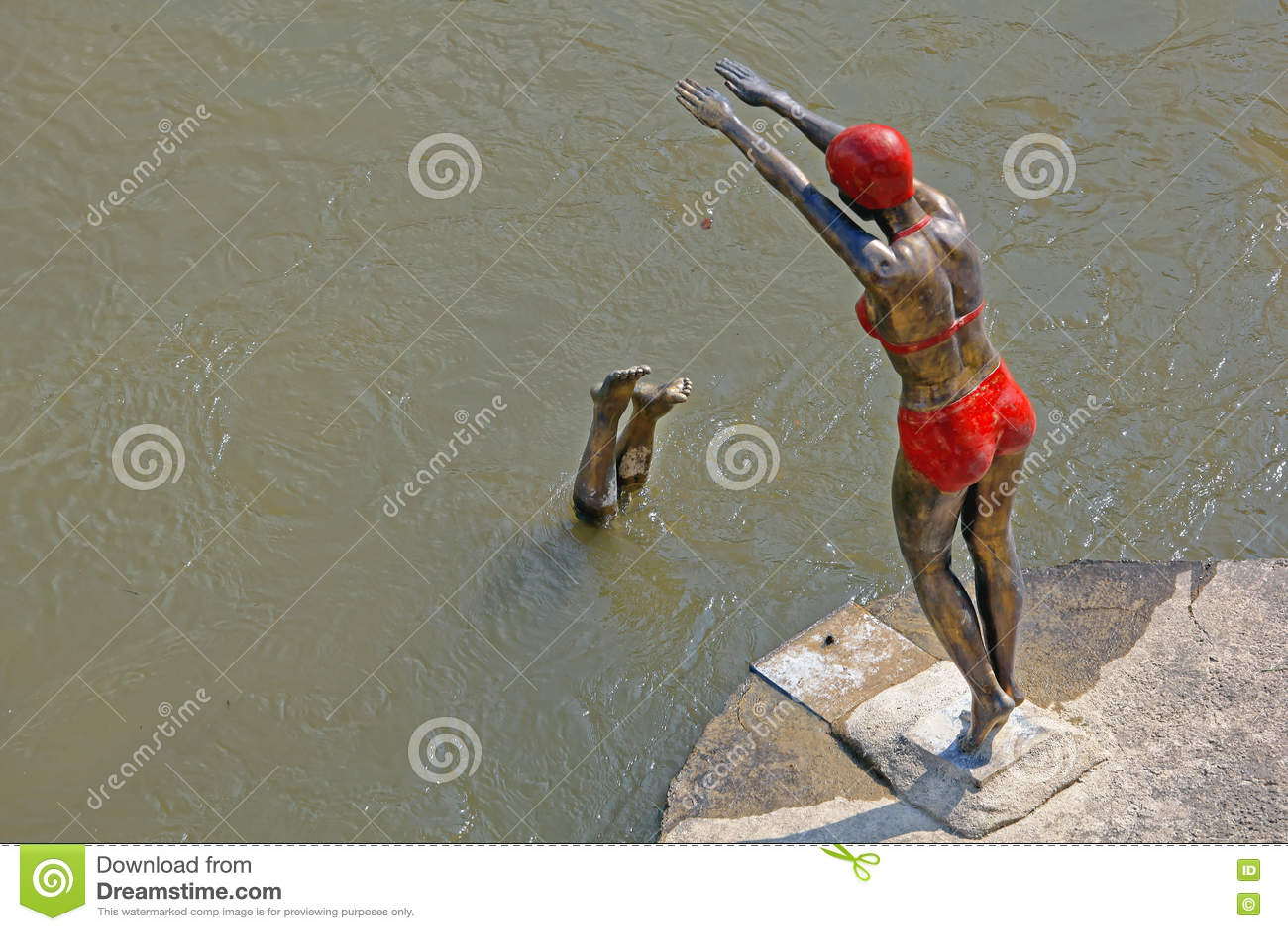 Swimmer in Skopje