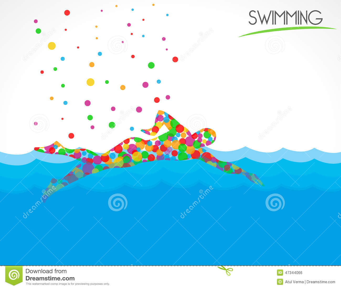 Swimmer swimming in swimming pool on beautiful natural for Pool design graphic