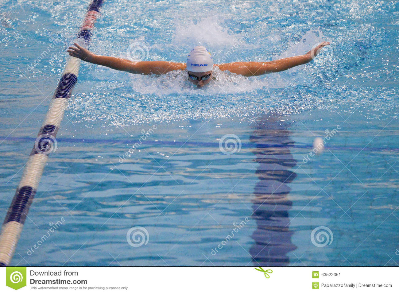 Swimmer Takes Part In The Competition Editorial Photo Image 63522351
