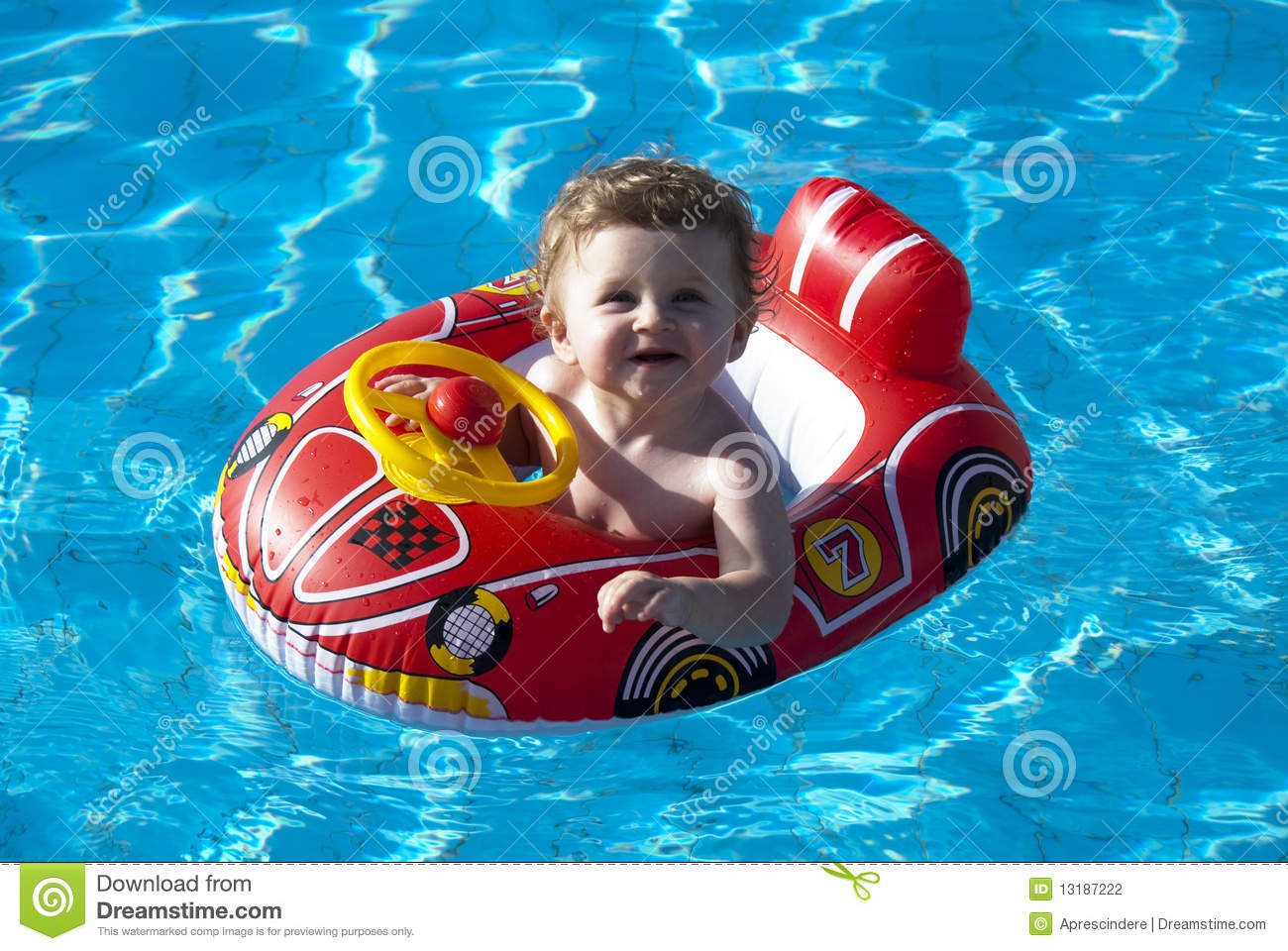 Swimming Baby Stock Photography Image 13187222