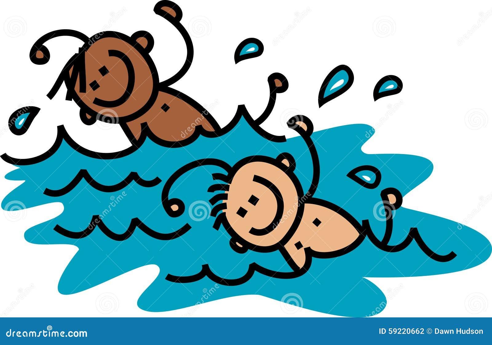 swimming boys stock illustration illustration of childhood 59220662 rh dreamstime com