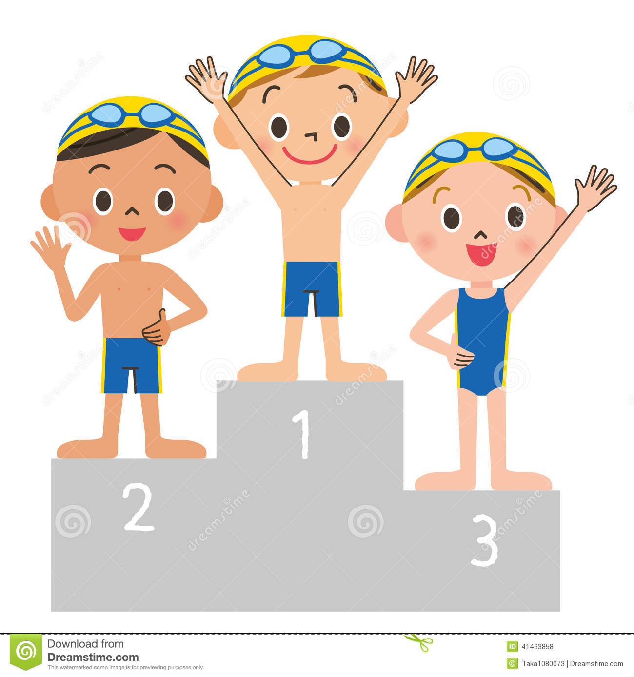 Swimming Child Order Stock Vector Illustration Of Smile