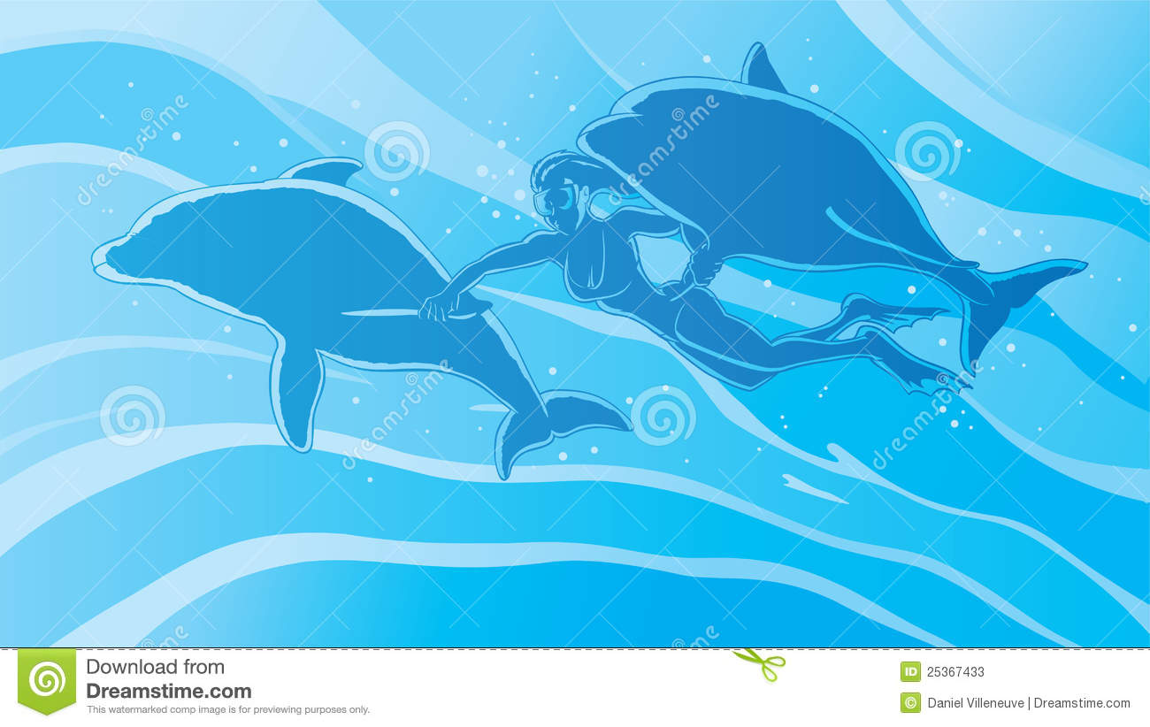 Swimming With The Dolphins Stock Photos - Image: 25367433