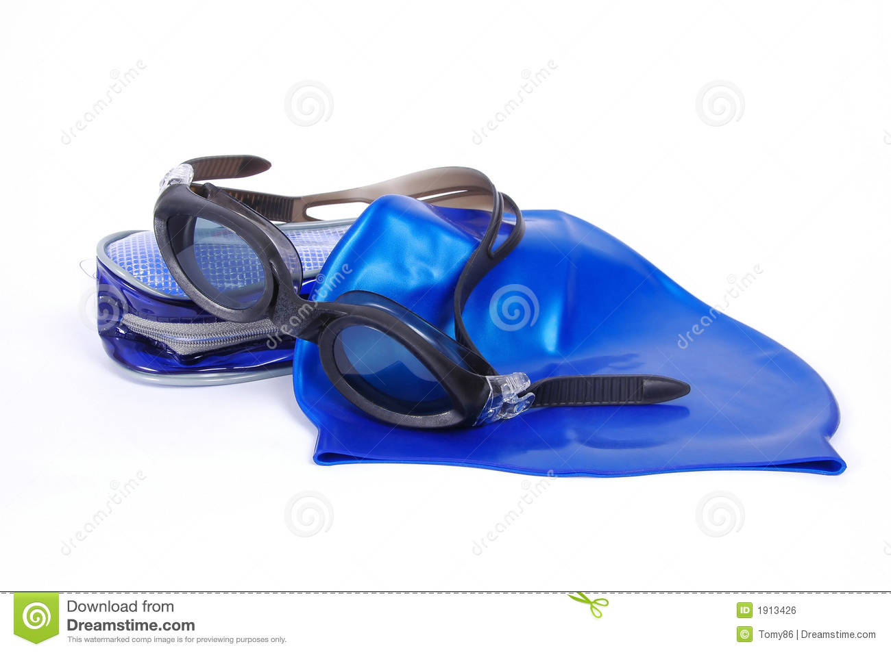 Swimming Equipment Stock Photo Image Of Safety Goggles 1913426