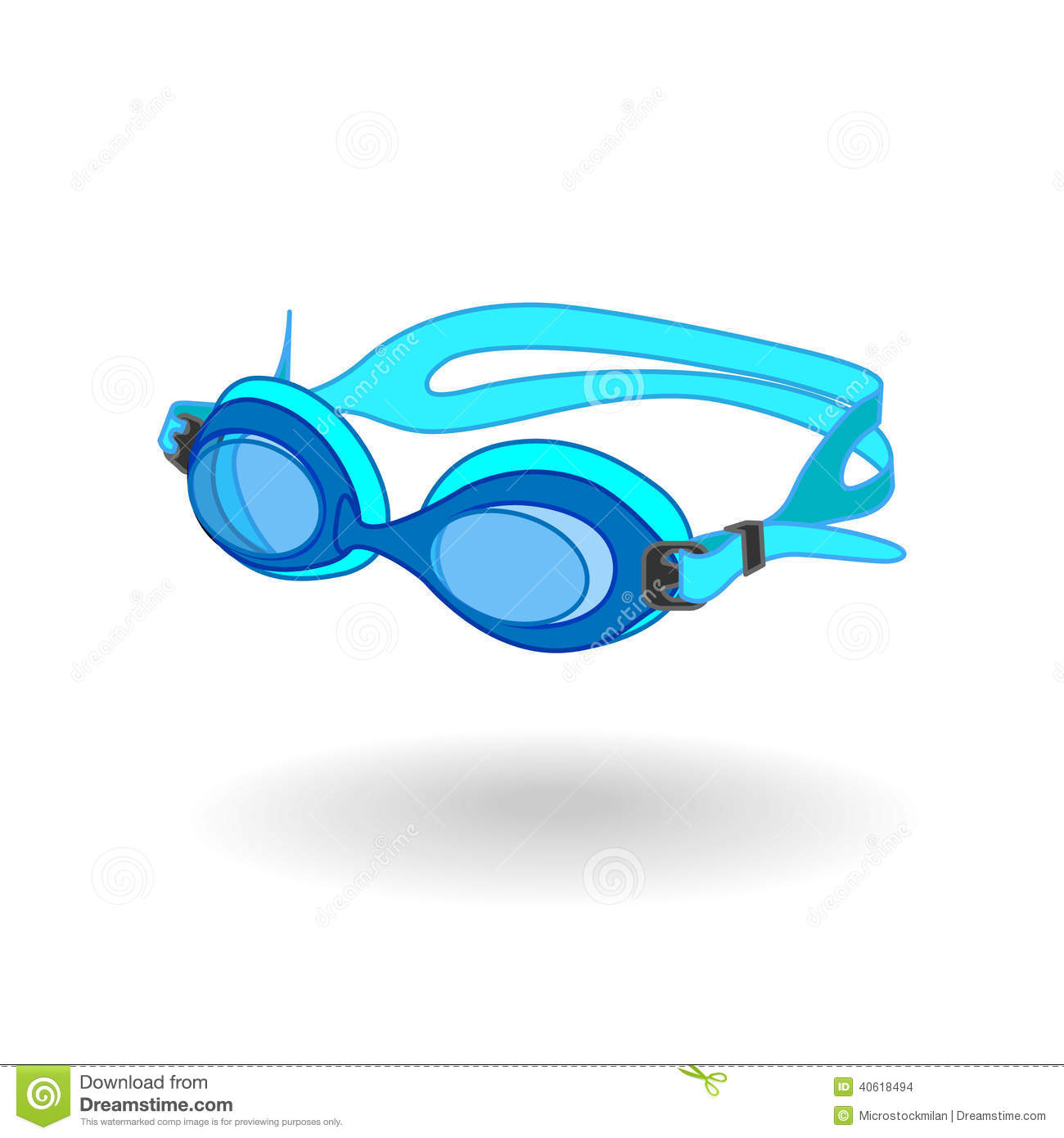 Seaside (OR) United States  city photos : Swimming Goggles Stock Vector Image: 40618494