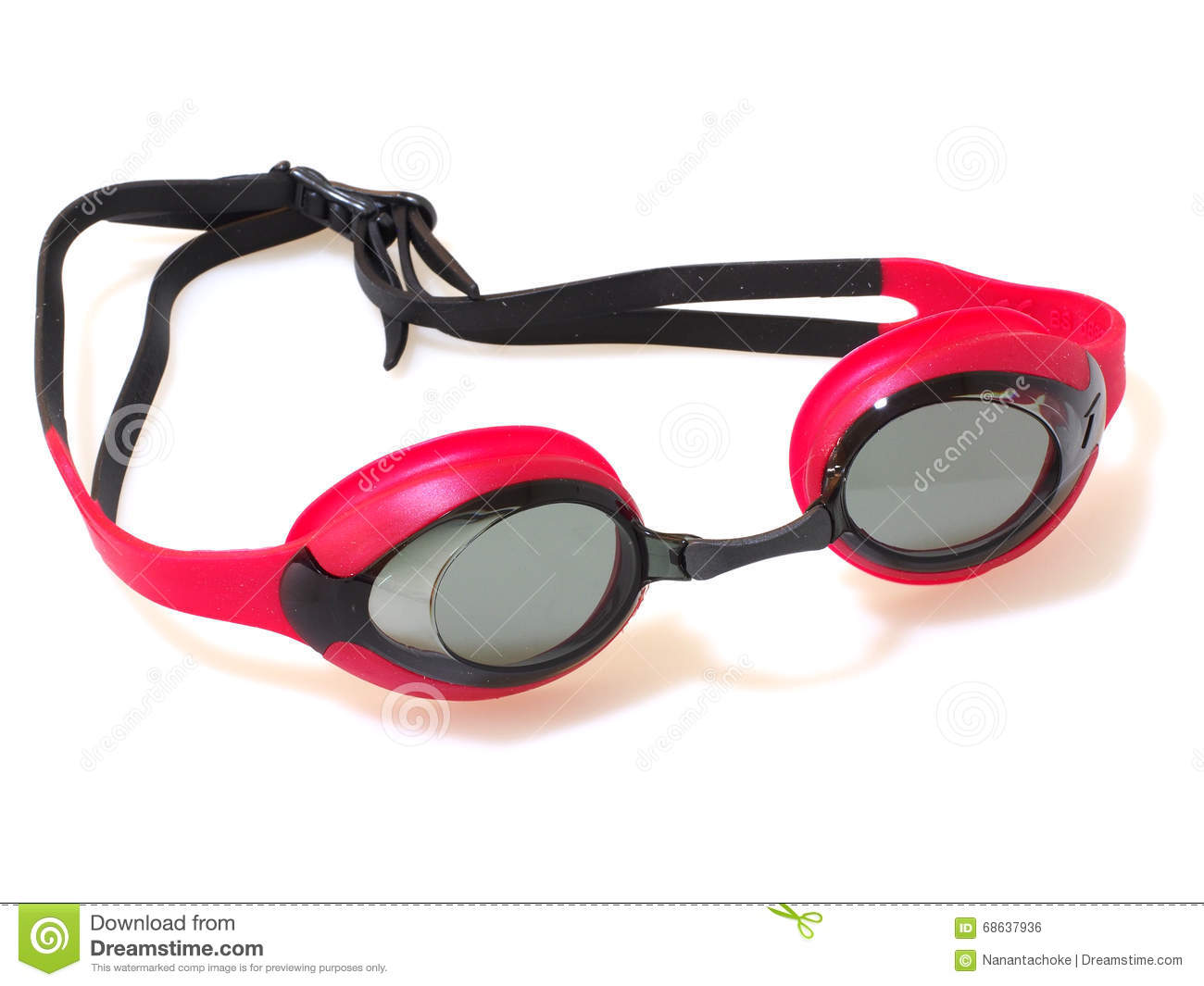 swimming goggles isolated on white background