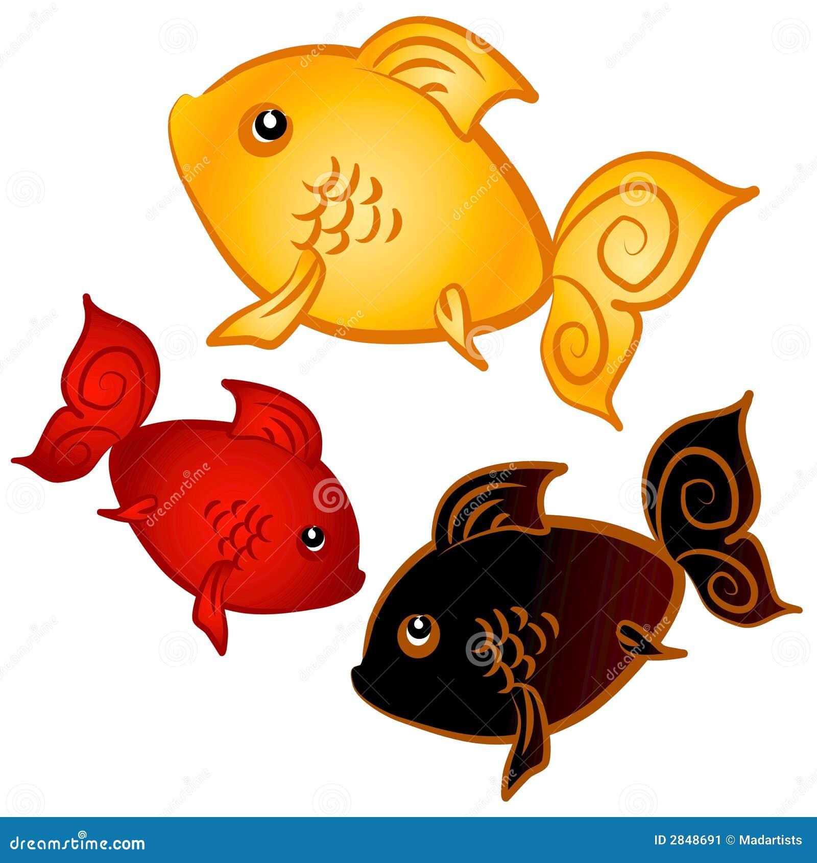 Clip Art Goldfish Clip Art swimming goldfish clip art stock image 2848691 art