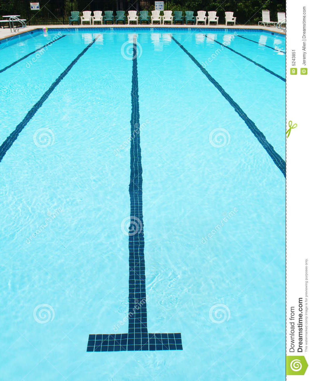 Swimming Lane Stock Image Image 5243851
