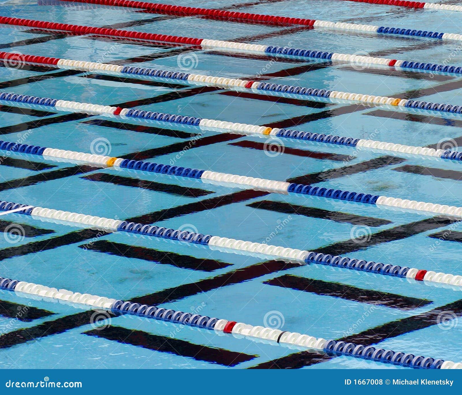 Swimming lanes royalty free stock photos image 1667008 - Olympic swimming pool lanes ...
