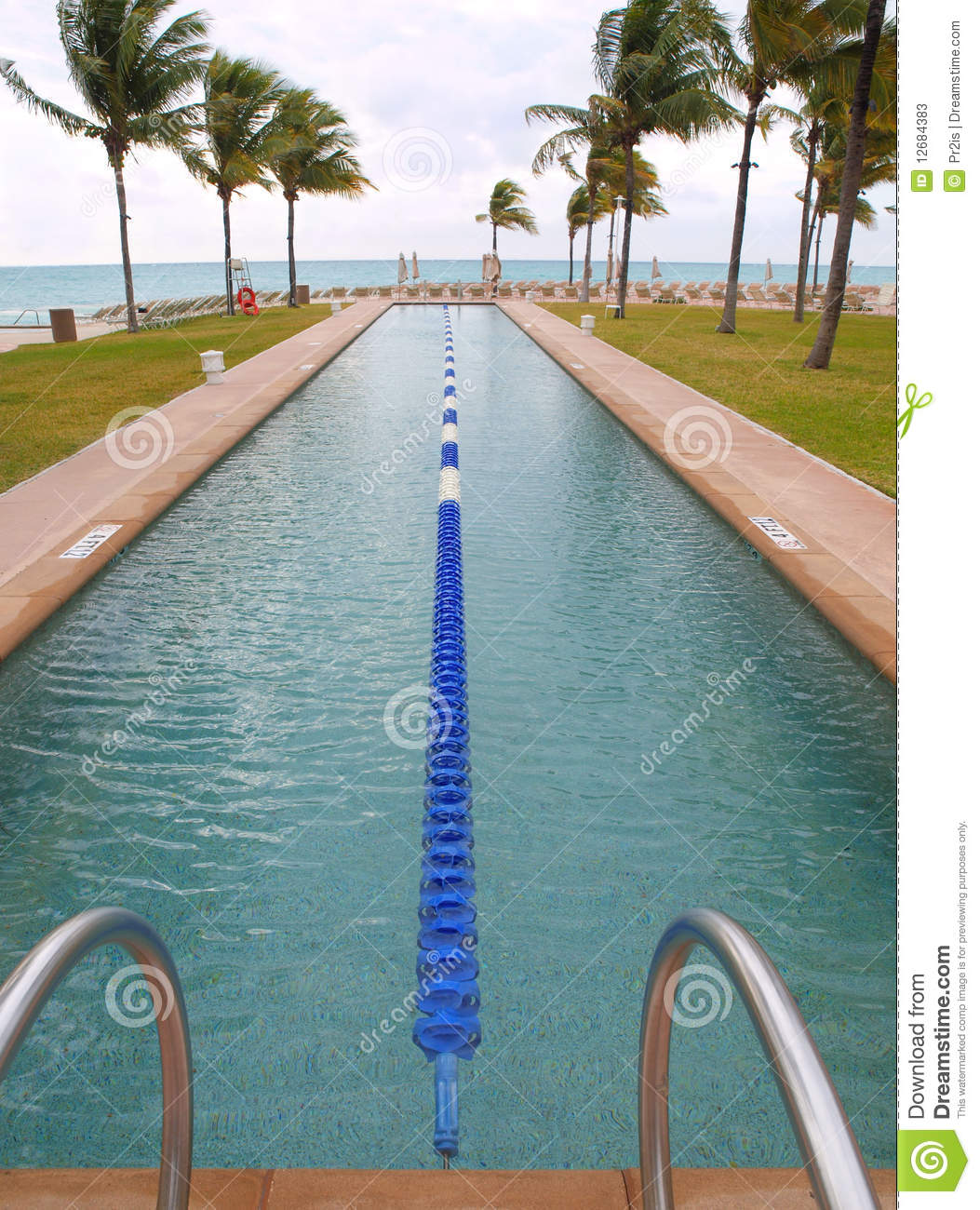 Swimming Lap Pool On The Beach Stock Photos - Image: 12684383