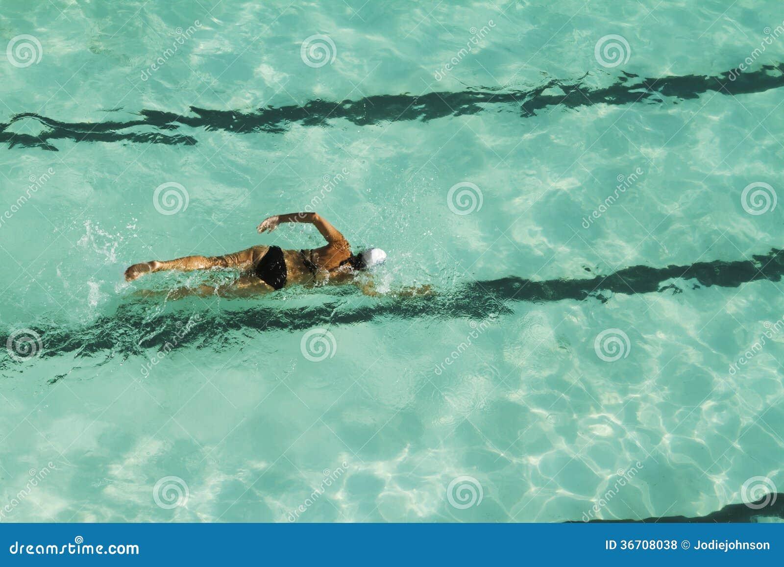 Boy Swimming Laps Under Water Royalty Free Stock Image 12492868