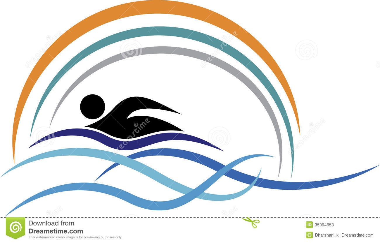 swimming logo stock vector illustration of icon healthy 35964658 rh dreamstime com swimming logs online swimming logos for t shirts