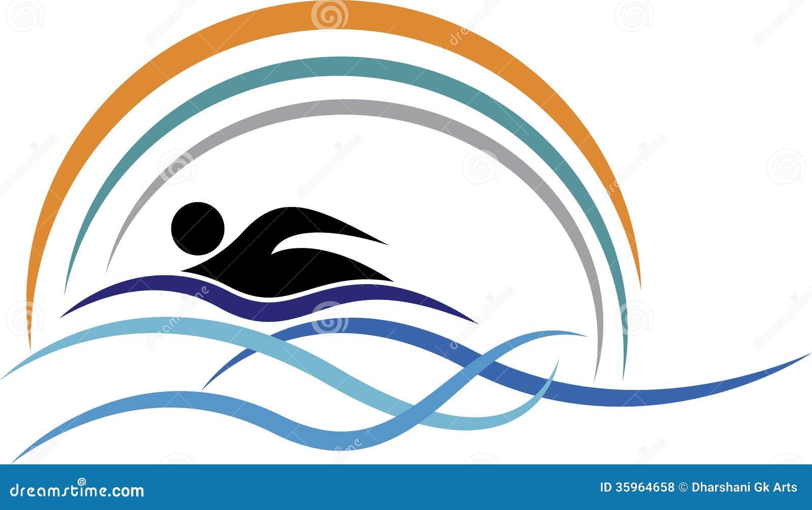 swimming logo stock vector illustration of icon healthy 35964658 rh dreamstime com swimming logos swim team swimming logos images