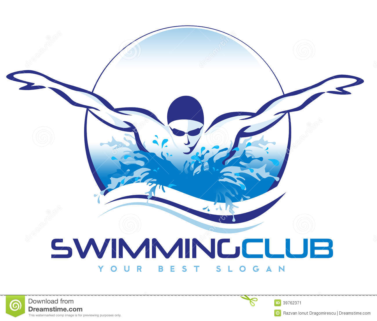 Swimming Logo Stock Illustration Image 39762371