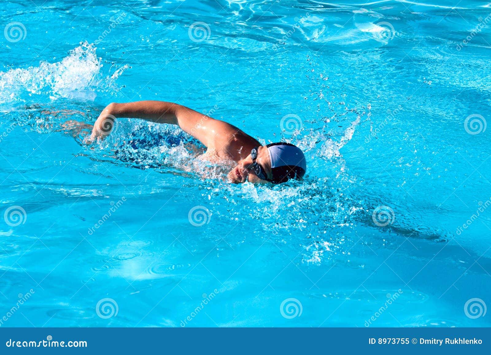Swimming Man Royalty Free Stock Photo Image 8973755