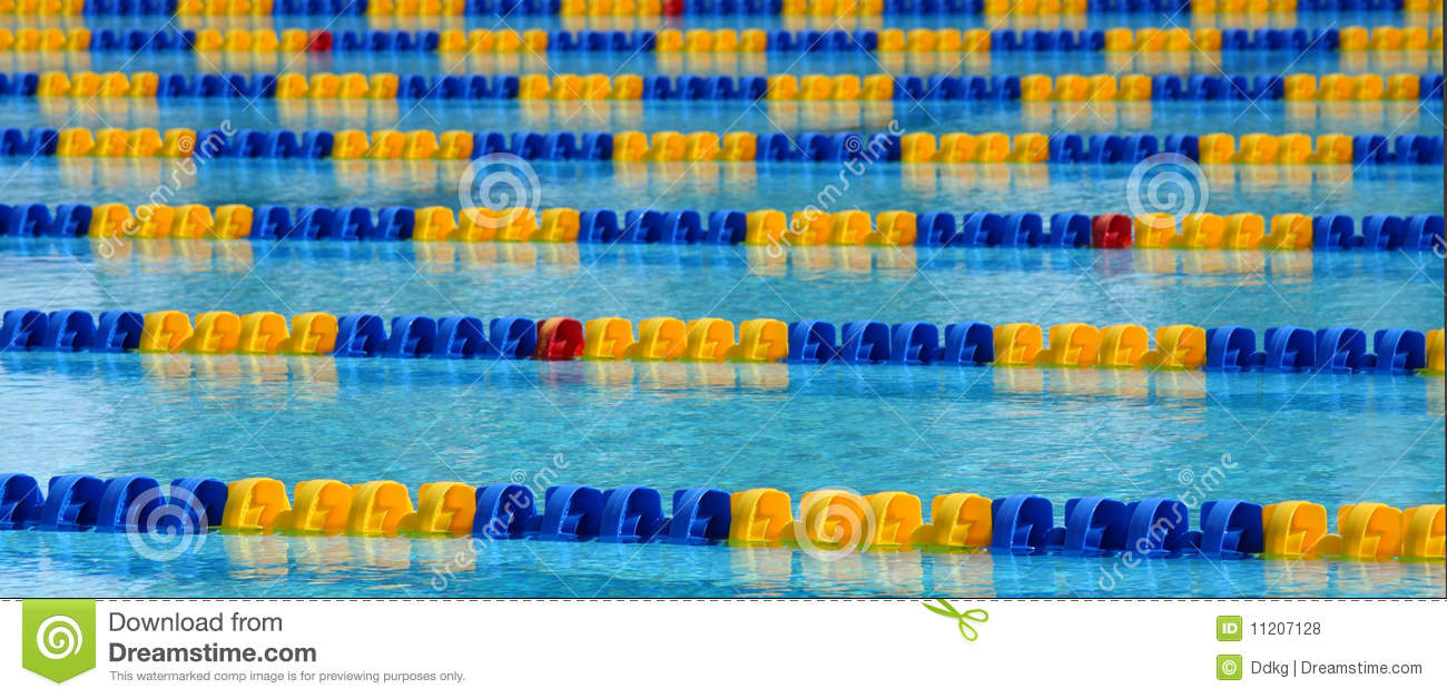 Swimming Pool Lane Lines Background parallel lanes in a pool stock images - image: 4232834