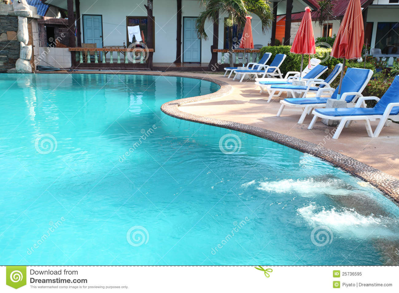 Swimming pool royalty free stock photo image 25736595 for Swimming pool bed