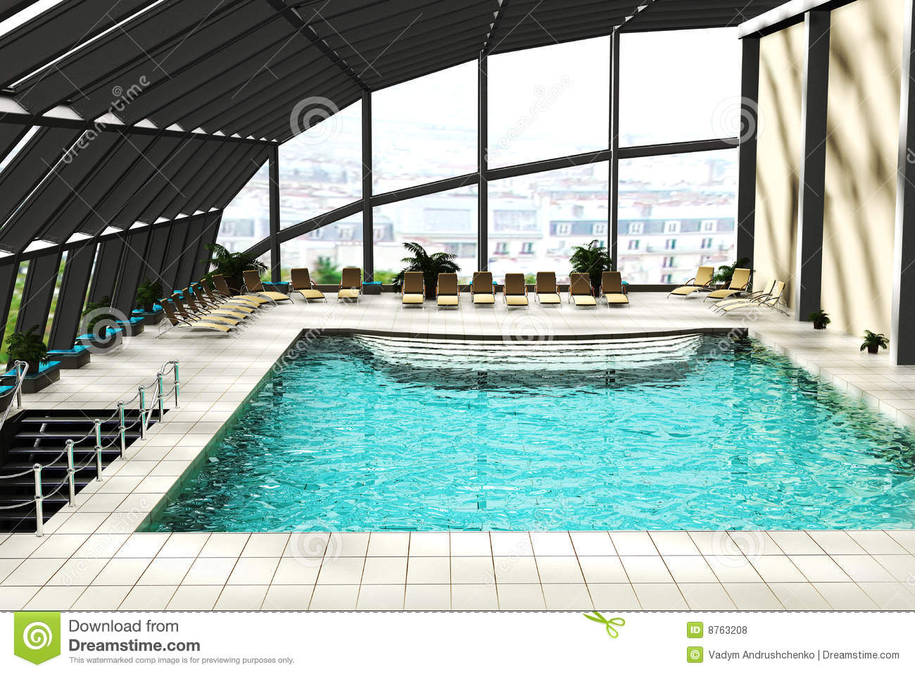 Swimming Pool 3d Royalty Free Stock Photos Image 8763208
