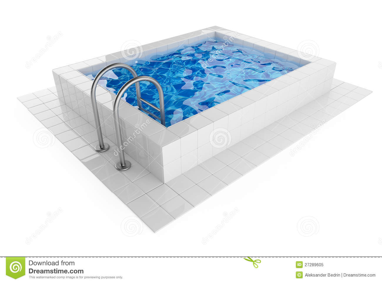 Swimming pool 3d illustration on white stock illustration illustration of care design 27289605 for Swimming pool 3d model free download