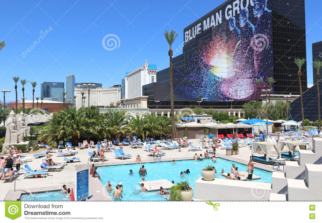 Swimming pool action editorial photography image of - Luxor hotel las vegas swimming pool ...