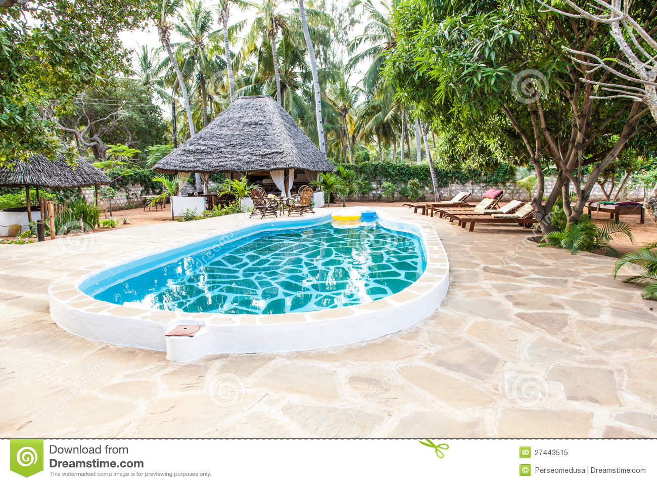 Swimming pool in african garden royalty free stock photo for Swimming pools for your garden