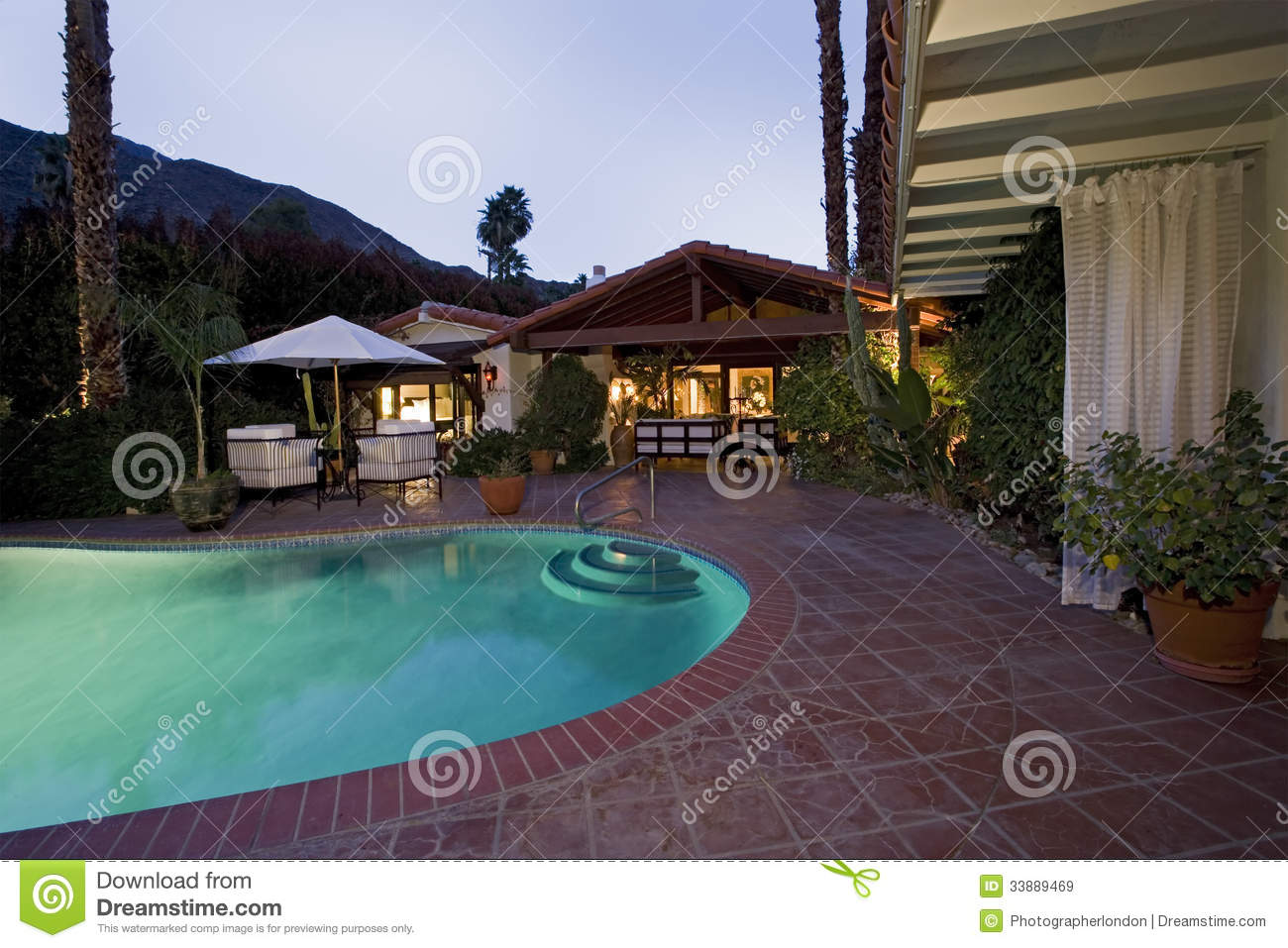 Swimming Pool gainst Modern House oyalty Free Stock Images ... - ^
