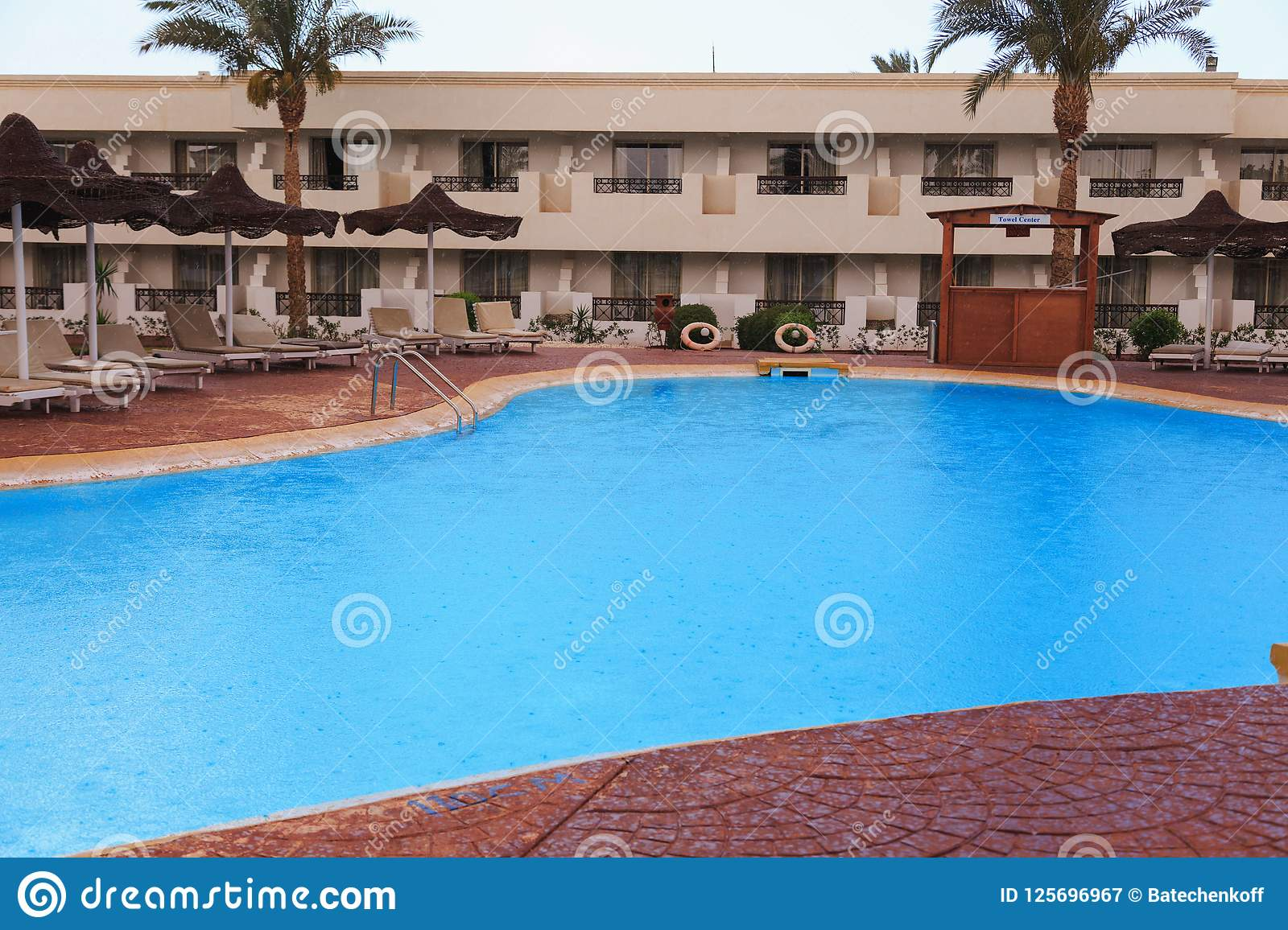 Swimming pool area in the hotel